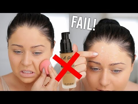 FAIL!!! LA Girl Pro Matte Foundation First Impressions Review