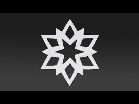 Paper MINI SNOWFLAKE Tutorial - Paper SNOWFLAKES - DIY