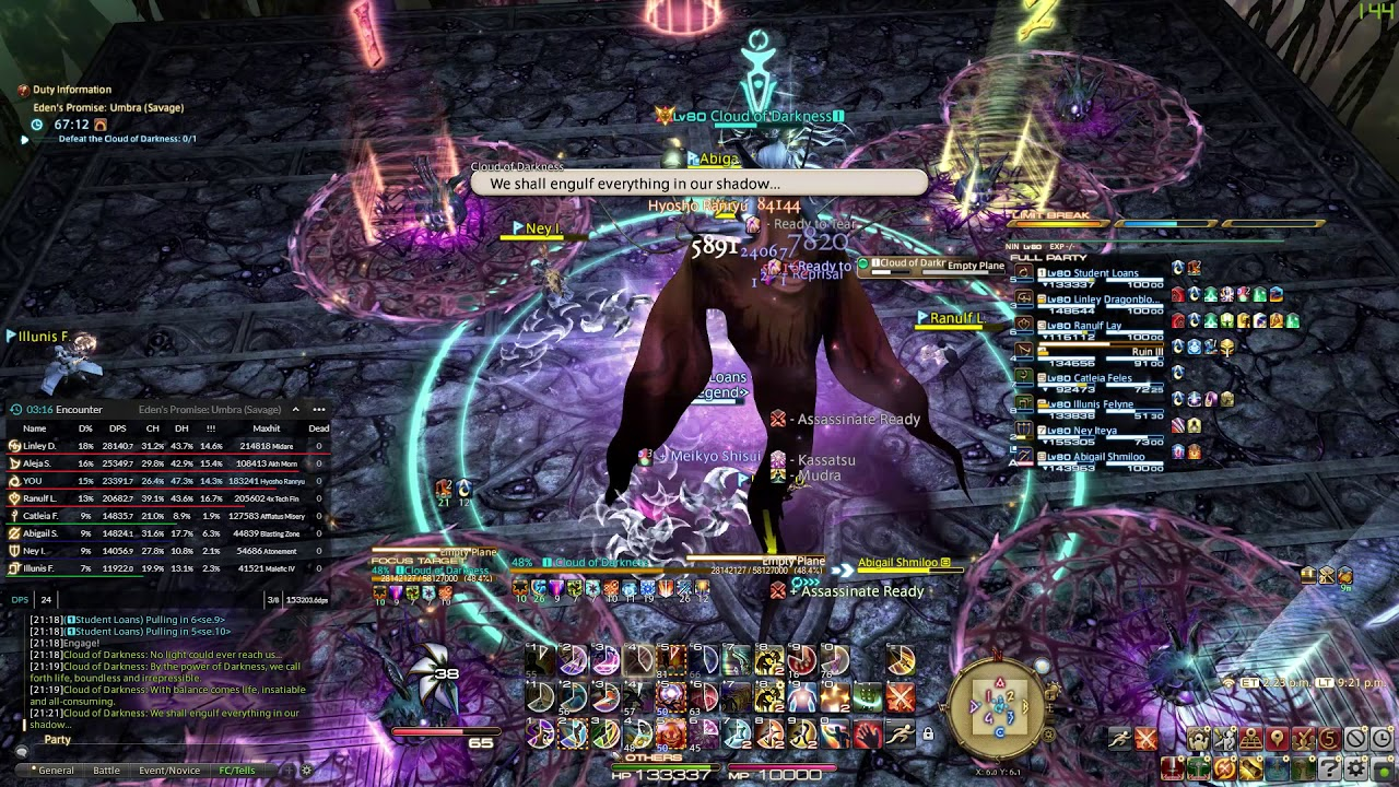 FFXIV - E9S @ 6:20 - Ninja POV