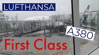 Lufthansa A380 FIRST CLASS to Miami | flight review | great experience