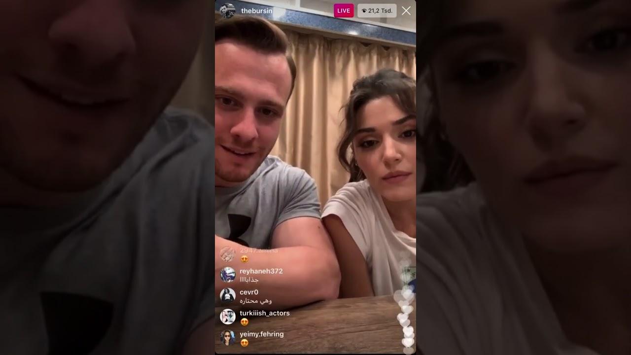 Hande Erçel ve Kerem Bürsin Live / Canlı Yayın  #handeerçel #kerembürsin  #instagram #canlıyayın