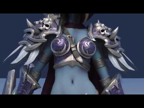 Sylvanas Windrunner The Drow Ranger Free Maya Rig Youtube