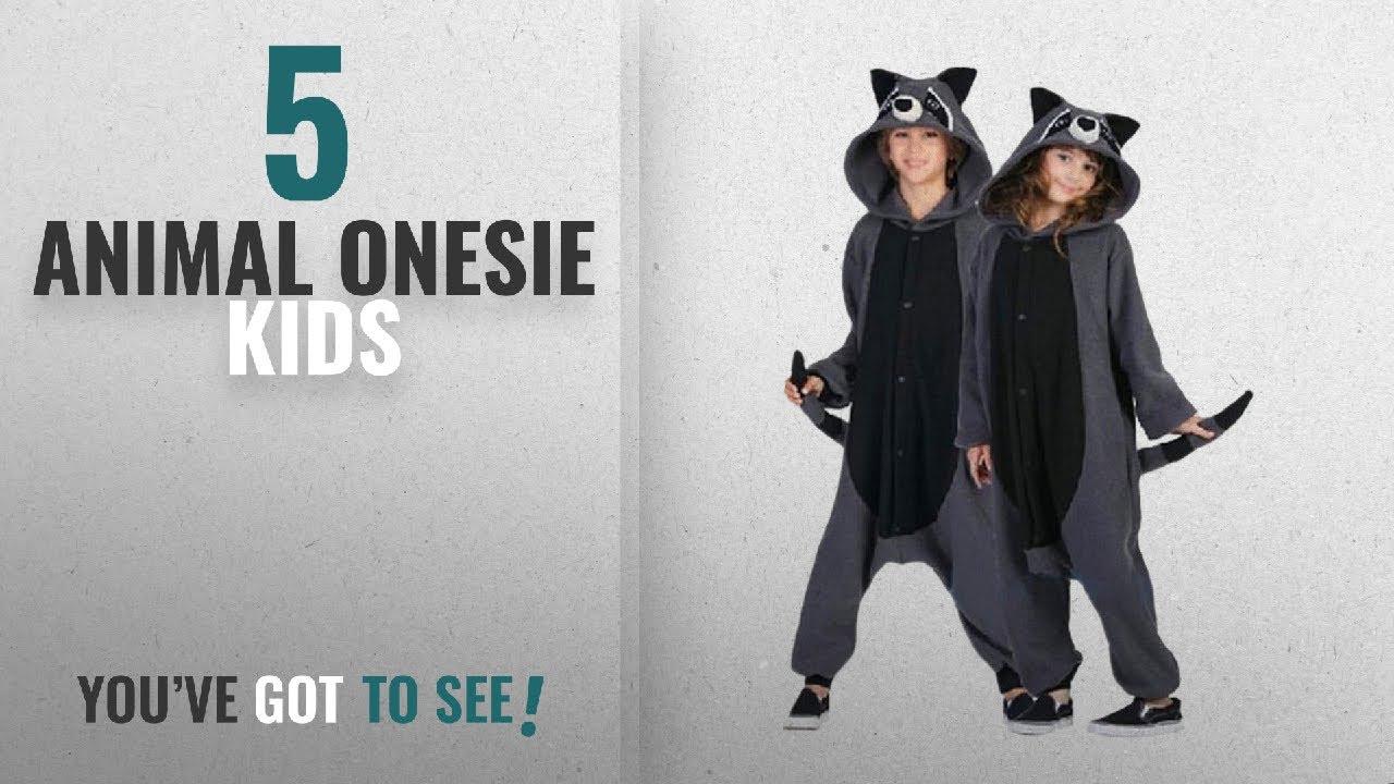 cb3e0195c Top 10 Animal Onesie Kids  2018   wotogold Animal Raccoon Pajamas ...