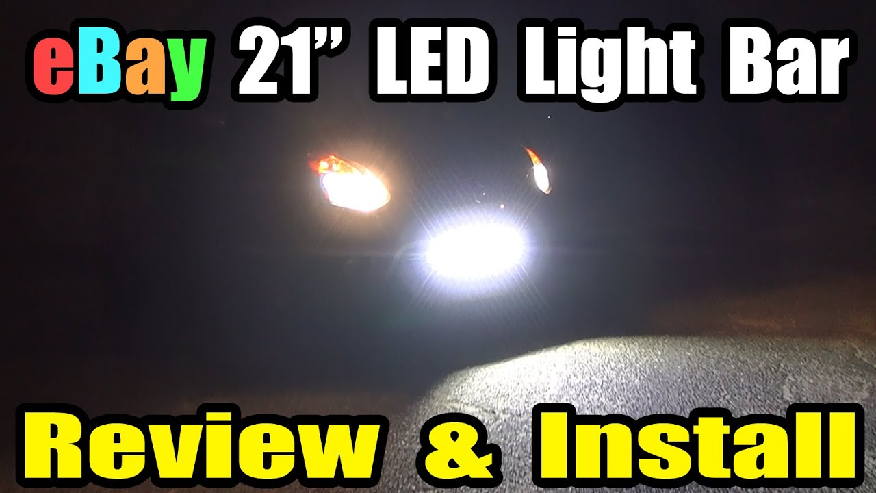 Ebay led front off road light bar install review youtube aloadofball Gallery