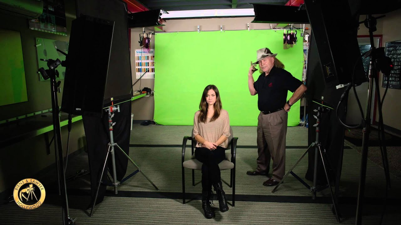 lighting with mike birns and sawyer led flo green screen demo