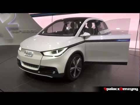 Audi A2 concept in Frankfurt 2011 International Motor Show IAA Germany - Spalacz Benzyny