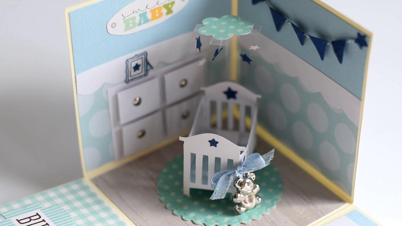 Baby boy crib explosion box