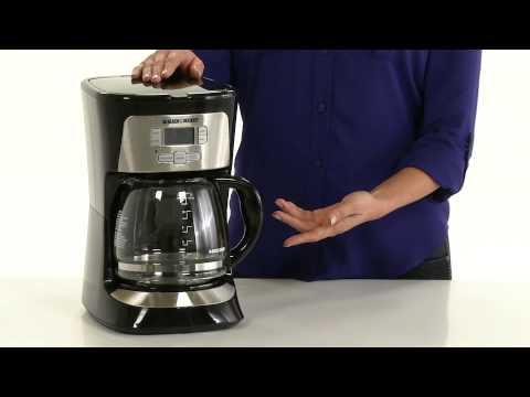 Black + Decker 12-Cup Programmable Coffee Maker - YouTube