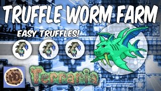 Terraria AFK Truffle Worm Farm (1.3 Duke Fishron bosses)