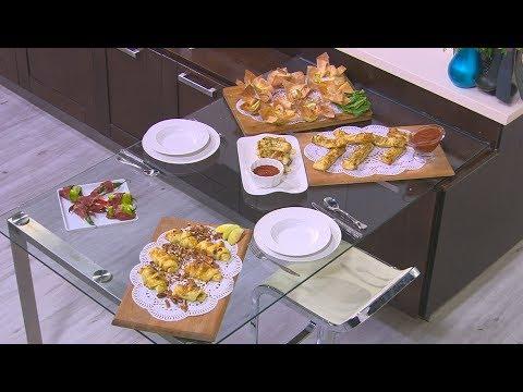 أصابع الجبنة بالببروني - أكواب الجمبري ووصفات أخرى: أميرة في المطبخ (حلقة كاملة)