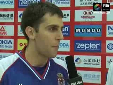 Milos VUJANIC Post-game interview (Serbia)