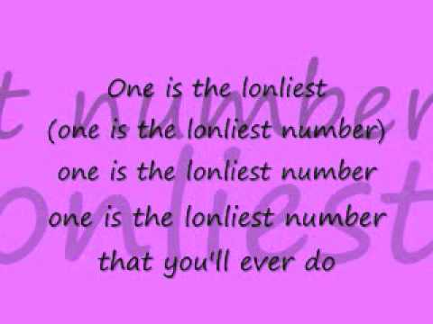 one is the loneliest number lyrics