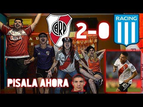 RIVER PLATE 2 VS RACING CLUB 0 | REACCIONES DE HINCHAS | SUPERLIGA ARGENTINA 2019