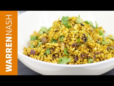 Cauliflower Rice Indian Recipe - Tasty low-cal fried rice - Recipes by Warren Nash