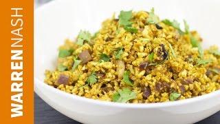 Cauliflower Rice Indian Recipe - Tasty low-cal fried rice - Recipes by Warren Nash