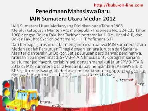 Penerimaan Mahasiswa Baru IAIN Sumatera Utara Jalur SPMB PTAIN 2012