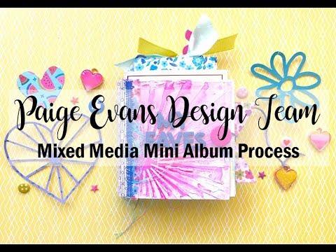 Scrapbooking Process #402 Paige Evans DT / My Faves Mini Album