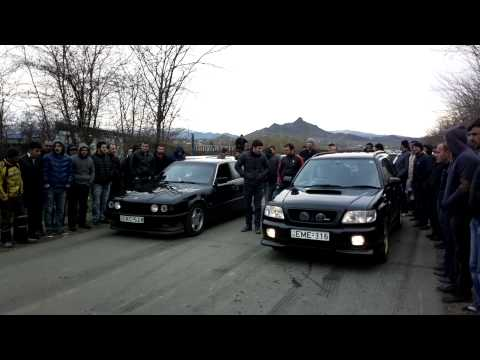 forester stb mt vs bmw 535 ..marneuli drag