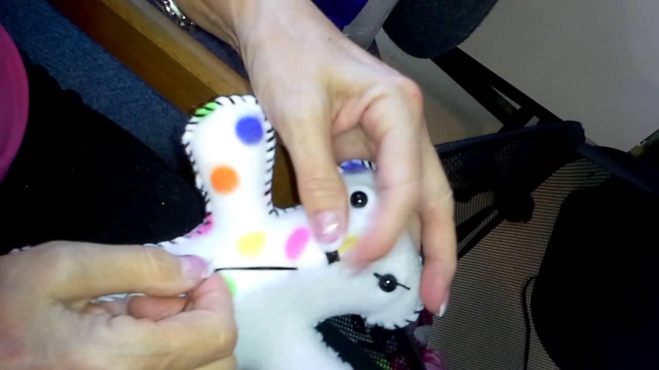 ca4b30c4ca0 How to Sew a Face on a Small Teddy Bear - YouTube