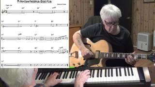 Pithycanthropus Erectus - Jazz guitar & piano cover ( Charles Mingus )