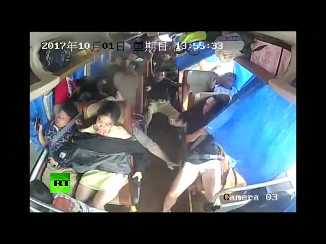 Bus rollover in central China leaves 1 injured