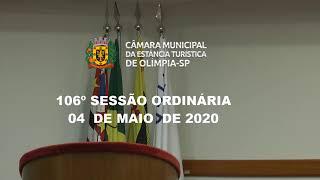 106ª Sessão Ordinária - 04 de maio de 2020
