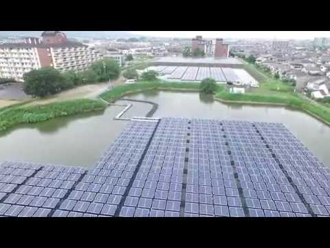 Solar Power Plant Floating System in Nara Prefecture, Japan