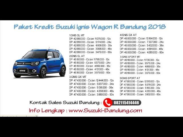 Kredit Suzuki Ignis Bandung Oktober 2018 | Info: 082121947360