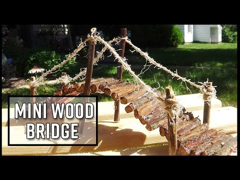 How to Make a Mini Wood Bridge with Twigs