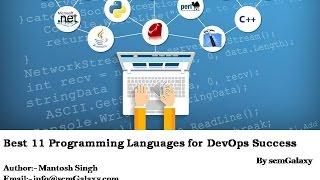 Best 11 Programming Languages for DevOps Success