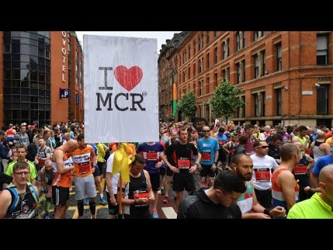 Thumbnail: Thousands turn out for Manchester memorial run