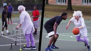Download lagu Grandma Plays Basketball At The Park!