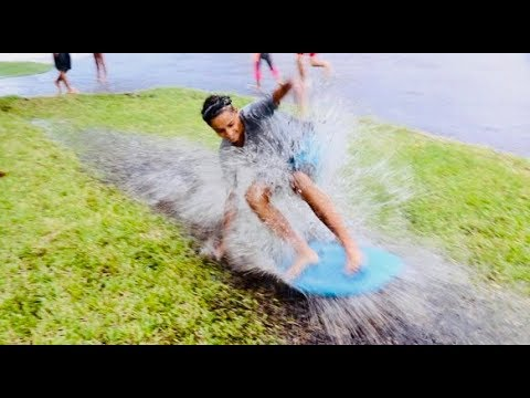 Rainstorm Surfing, Tug of War, & FOOTBALL!! THAT'S Gonna HURT!! YouTube Family Challenge