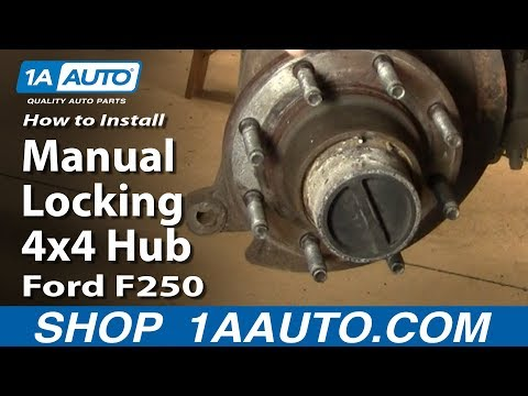 How to Replace Locking Hub 99-04 Ford F250 Super Duty Truck