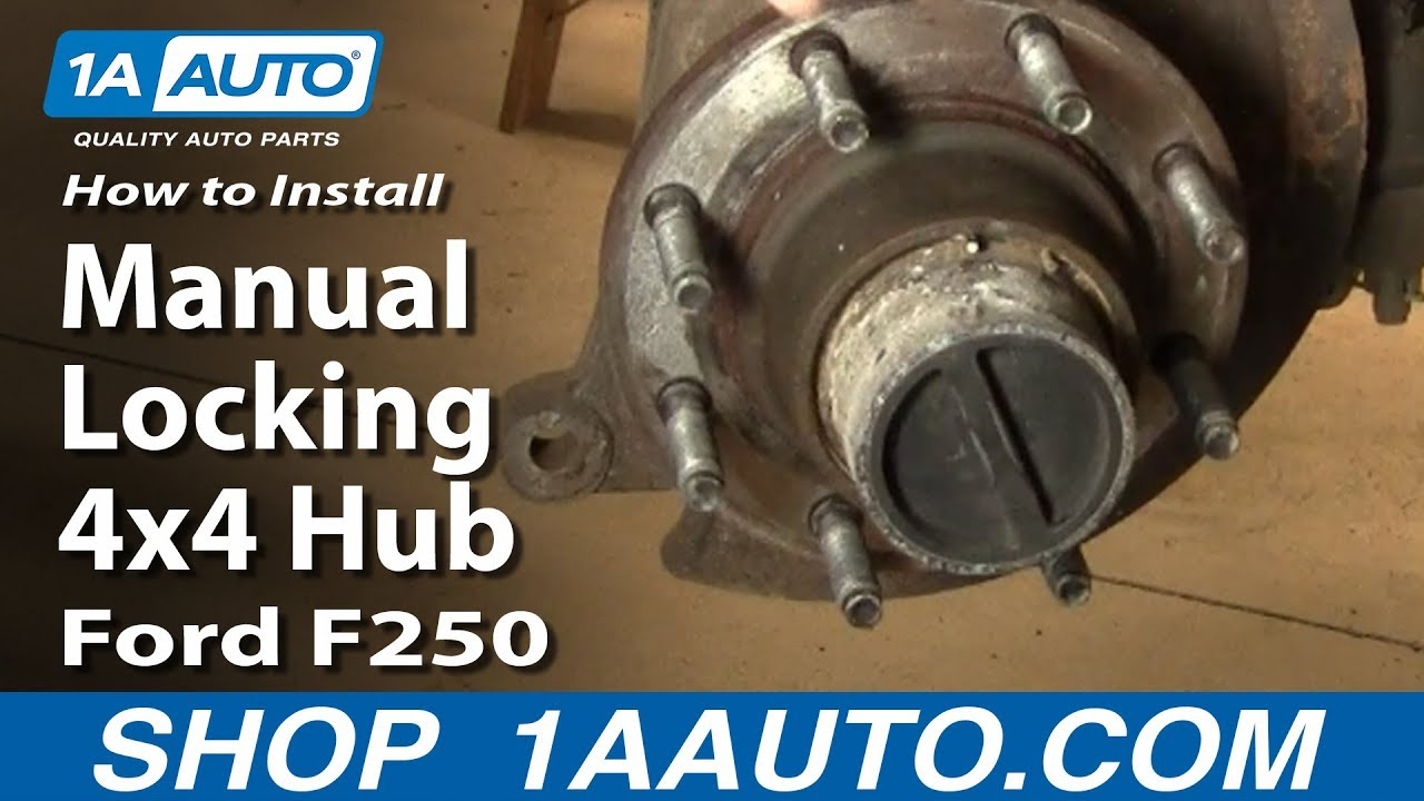 How to install replace manual locking 4x4 hub ford f250 super duty 99 04 1aauto com youtube