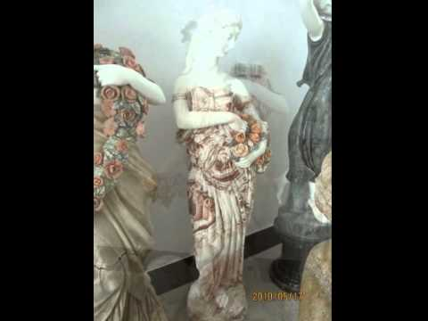 The marble stone statue sculpture