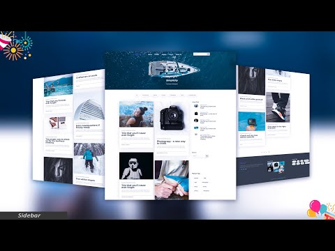Sidebar - Premium HTML Template - 26