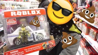 SAVAGE THUG KID THROWS TEMPER TANTRUM AT TOYS R US FOR ROBLOX NEW TOYS