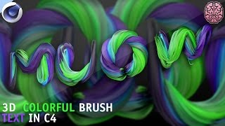 Tutorial: 3D Paint Brush Text in C4D by Qehzy