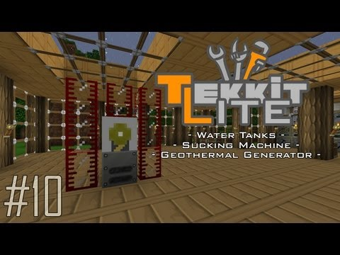 Tekkit Lite - Part 10: Geothermal Generator, Pumps & Tanks! Saving Minecraftia!