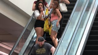 WET FART PRANK ON THE ESCALATOR!! Daddy Thiccness is back!