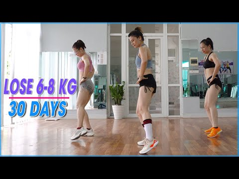 Weight Loss 6-8 Kg in 30 Days - Aerobic Dance Workout Everyday for The Best Body Shape | Eva Fitness