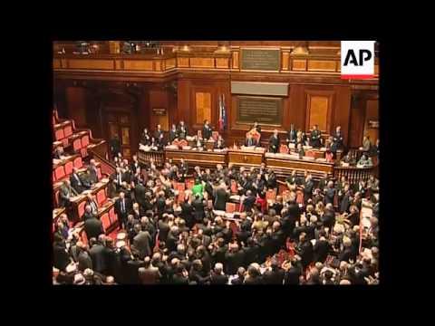 Prodi government wins Italian Senate vote, Prodi presser, voxpops