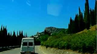 Ukraine Yalta Mountains Highway Ялта Узкие улочки поселка СИМЕИЗ Наташа Саша 09.06.2012