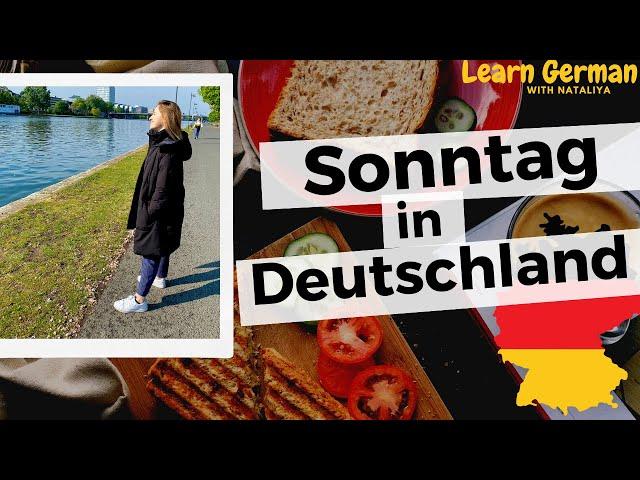 Sunday in Germany II German B2 II Learn German with Natalia