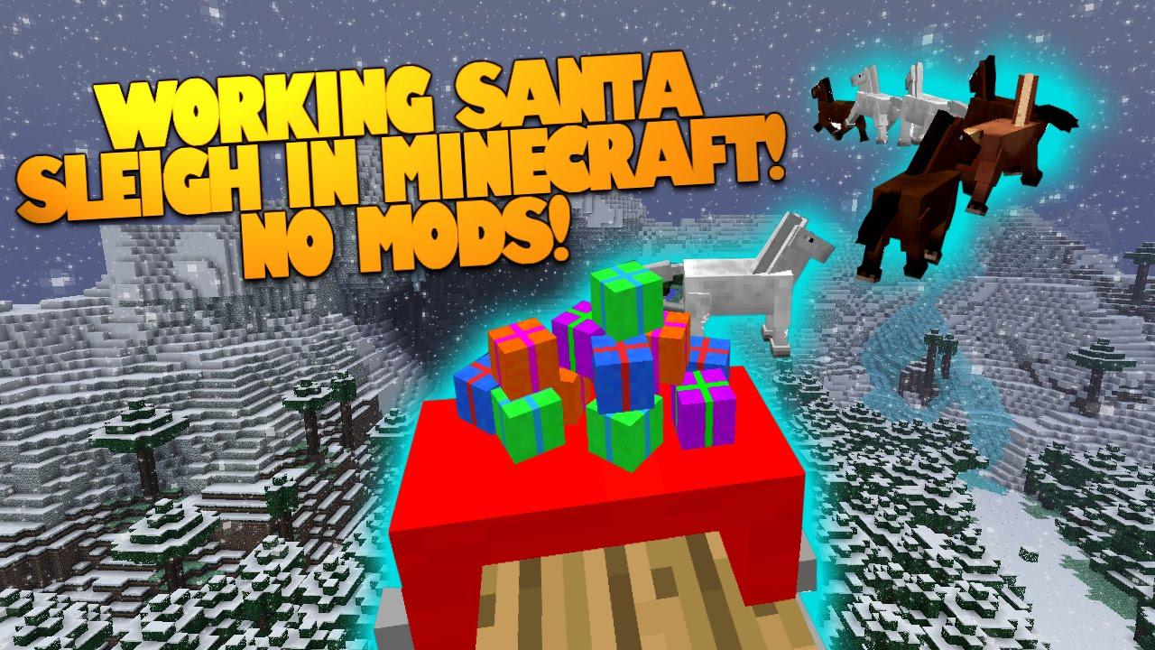 working santa sleigh in minecraft no mods drop