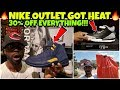 My Nike Outlet Got HEAT 🔥🔥 30% Off Discount On Everything!! Crazy Steals & Deals