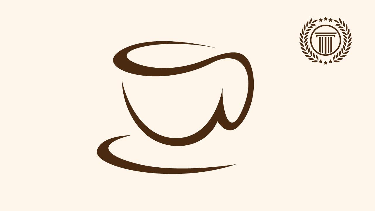 coffee cup shop logo d...
