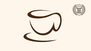 coffee cup shop logo design illustrator | how to make coffee cup shape icon logo in illustrator