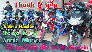 Thanh Lý Xã Kho Lô Xe Côn Tay 135- 150 Giá Rẻ Cho Anh Em Chơi Tết Sonic-Satria-Raider-Exciter-Winner